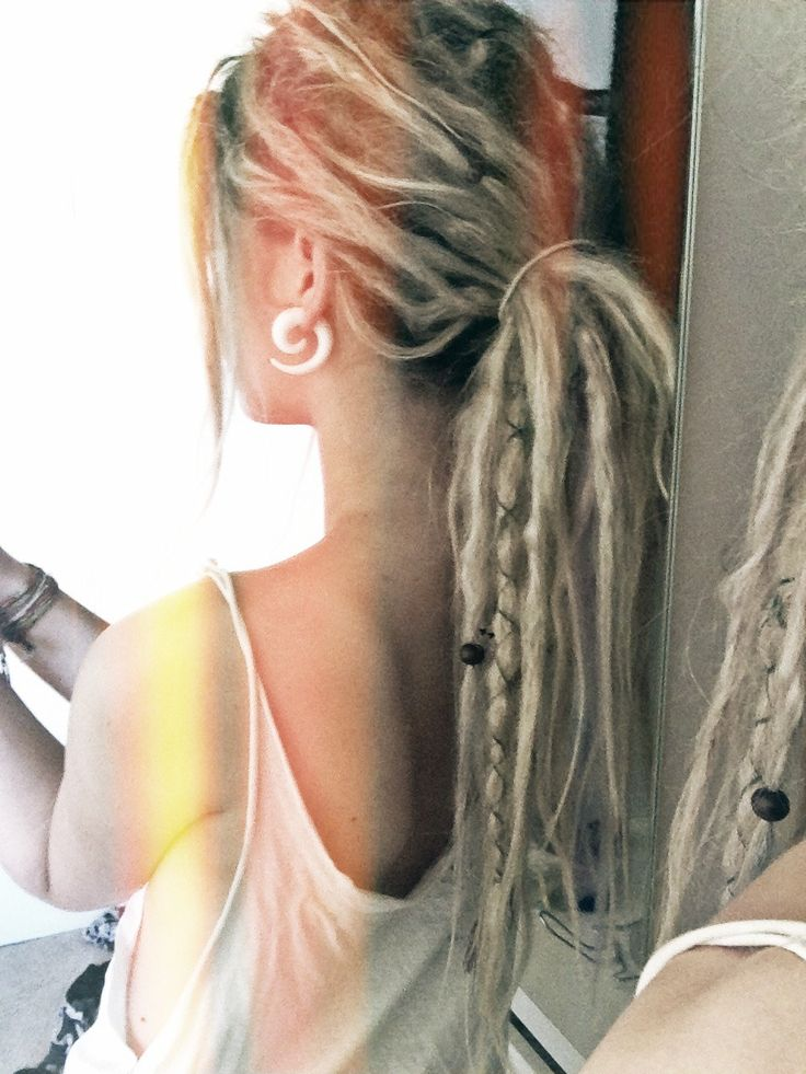 Dreads. if I could pull them off...I am so in love with them. & dreads on blonde girls..perfect!
