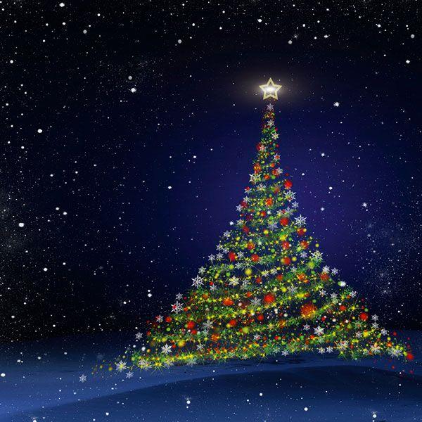 Julekort med støtte 2013. Motiv: Julepynt, juletræ ...