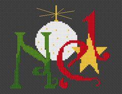 Noel - modern, found on : http://www.alitadesigns.com/cross-stitch/patterns/064.php
