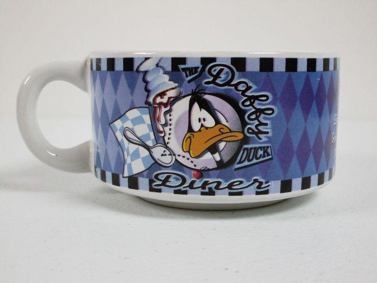 Daffy Duck Diner 1998 Warner Bros Soup Cup Bowl