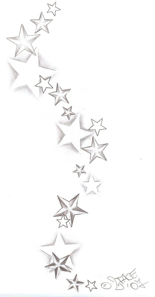 "This what you should do ""random"" star designs with swirls, color and line work added"
