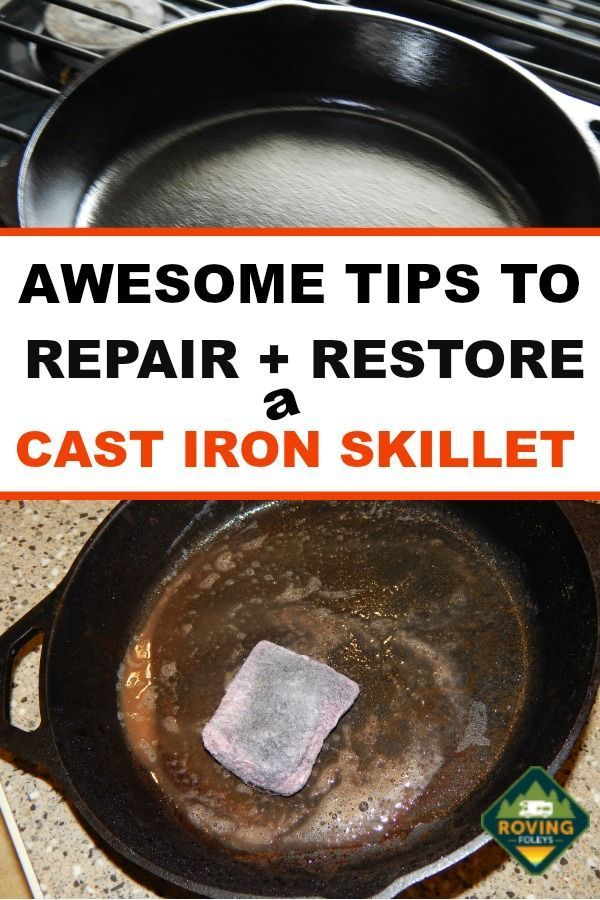 How To Clean A Cast Iron Skillet Restore It To Its Glory In 2020 Cleaning Cast Iron Pans Cast Iron Cleaning Cast Iron
