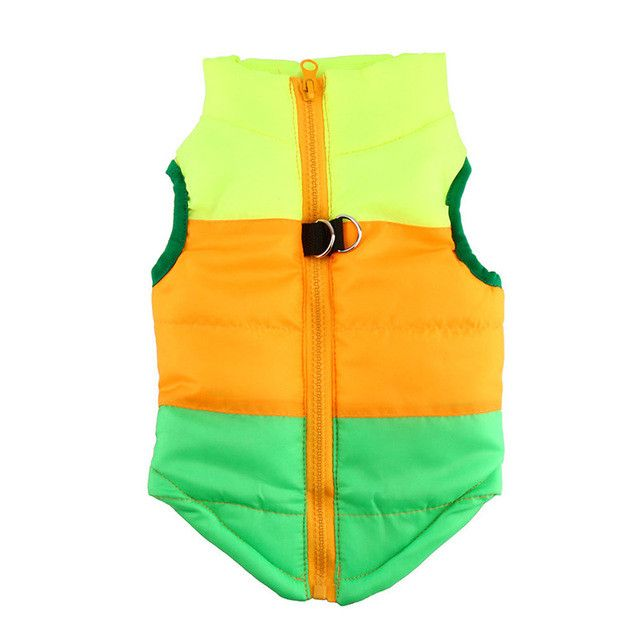 Colorful Cute Dog Winter Coat Padded Vest Jacket Costumes