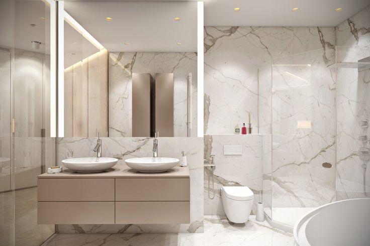 ванная комната с двойной раковиной