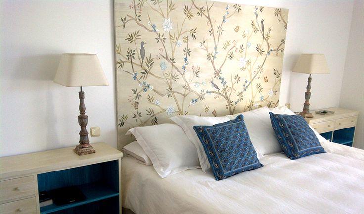 Las 25 mejores ideas sobre cabeceros pintados en pinterest - Cabecero cama pintado ...