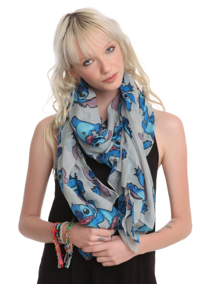 Disney Lilo & Stitch Grey Scarf | Hot Topic