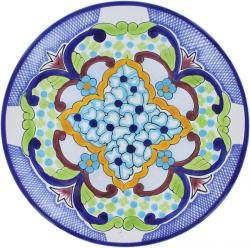 Talavera Jardin Plate Mexican Pottery Plate  sc 1 st  Pinterest & 13 best Mexican Plates - Wall Decor - Mexican Pottery images on ...