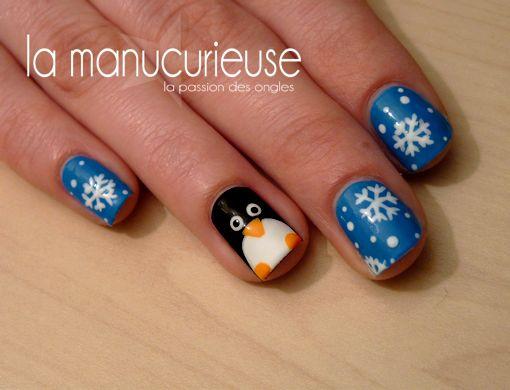 La Manucurieuse : Penguins & Snowflakes