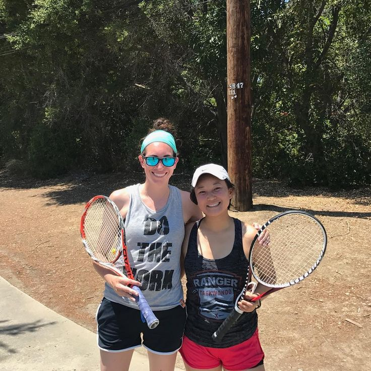 Yoga not only helps with strength and flexibility - it helps with mindset on the tennis court for Jackie and Rachel. Congrats to both of them on winning their match today!  #playoffs #wimbledon2018 http://butimag.com/ipost/1554629198289757609/?code=BWTJwThguWp