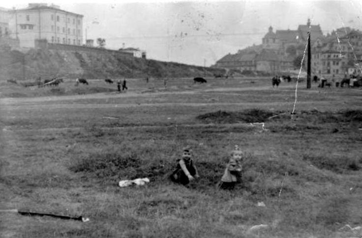 teren pod zamkiem ok. 1950
