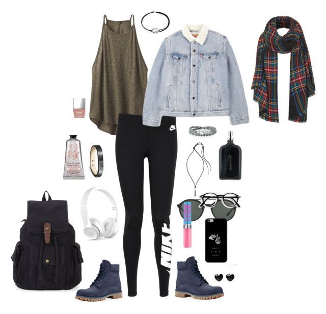 """""""Untitled #11"""" by afsyara-fifa on Polyvore featuring beauty, prAna, NIKE, Levi's, Timberland, Ursul, Brace Humanity, Lanvin, Beats by Dr. Dre and Giorgio Armani"""