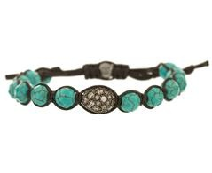 Turquoise and Crystal Ball Bead BraceletBeads Bracelets, Turquoise, Crystal Ball, Ball Beads, Crystals Ball, Jewelry Boxes