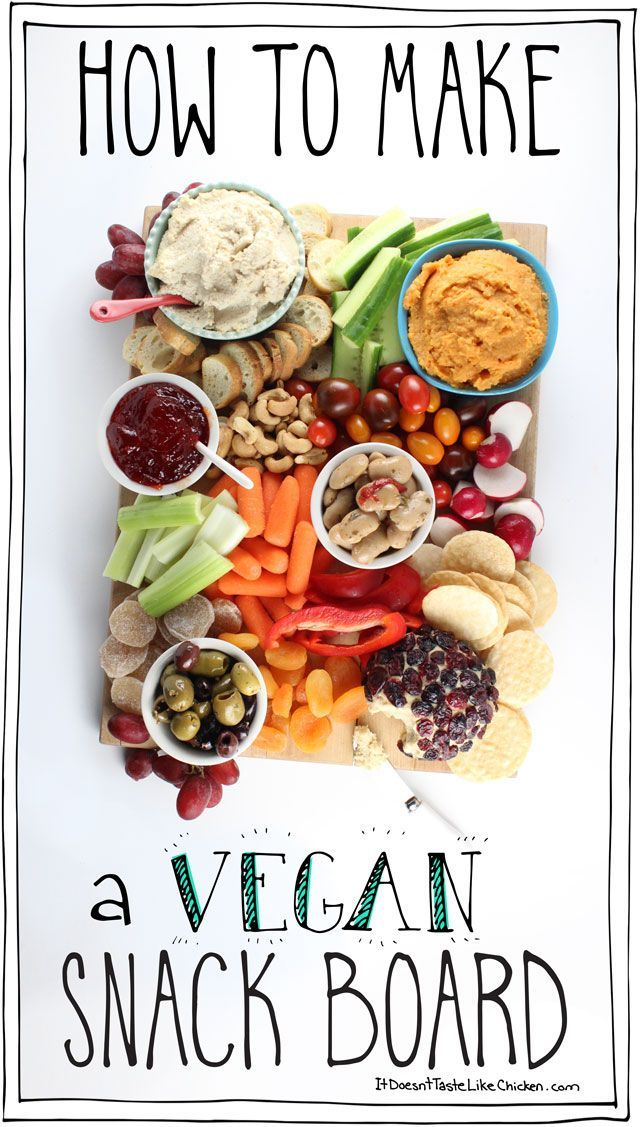 Spice up your party with this guide of How to Make a Vegan Snack Board. Homemade or store-bought, this appetizer platter is quick and easy to assemble, but is sure to impress