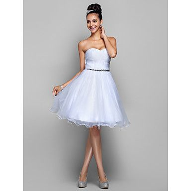 Cocktail Party/Homecoming/Prom/Holiday Dress A-line/Princess Sweetheart Knee-length Organza Dress – GBP £ 62.09