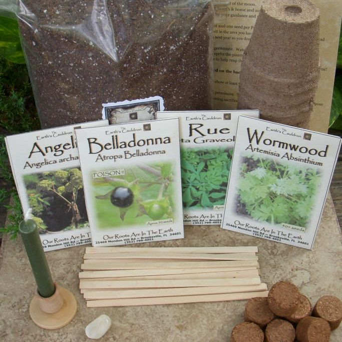 Witch's Garden Herb Collection Kit No. 2 - Angelica, Belladonna, Rue, Wormwood..OH I want it!