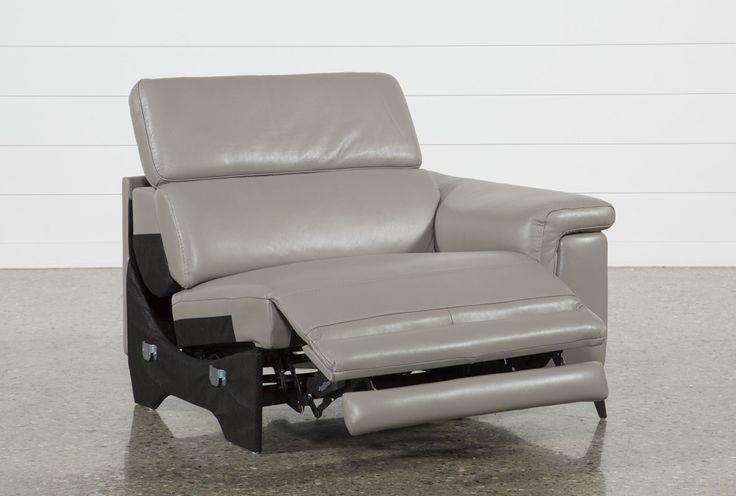 Thatcher Grey Right Facing Power Recliner - Signature 43 X42 X31