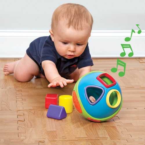 Musical Shape Sorter Ball and Crawling Toy - One Step Ahead