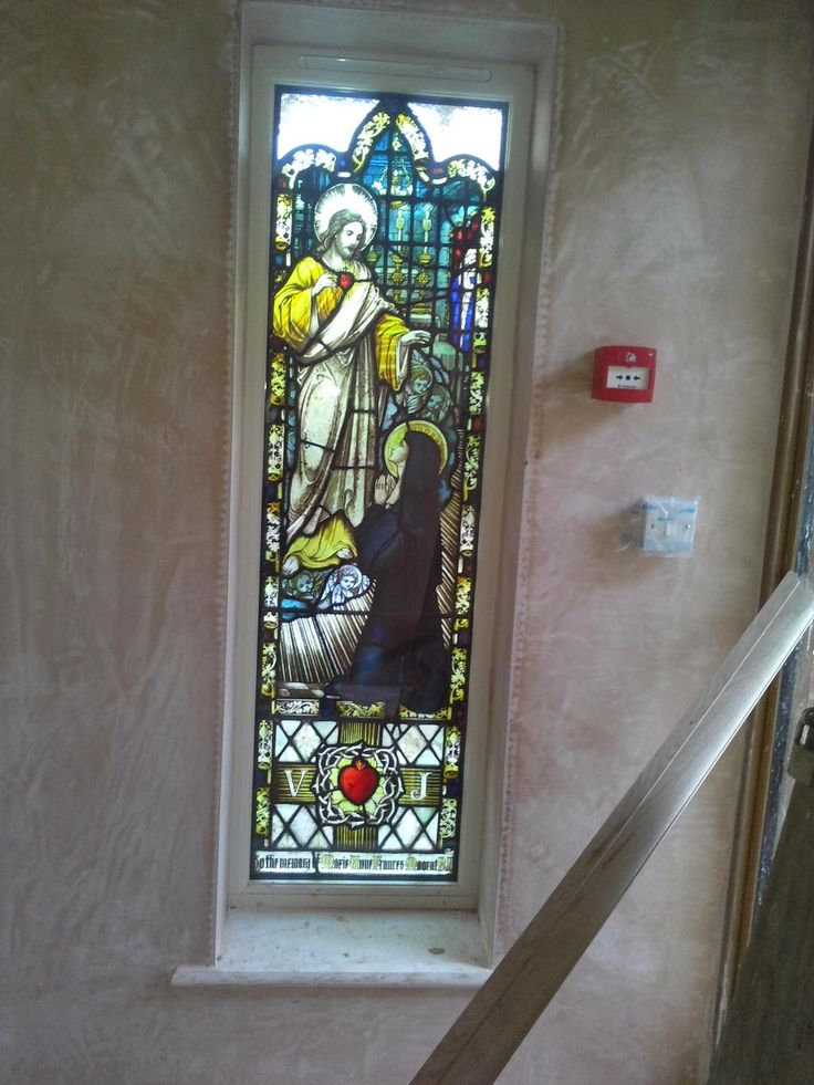 Our recently installed #Accoya stained glass window