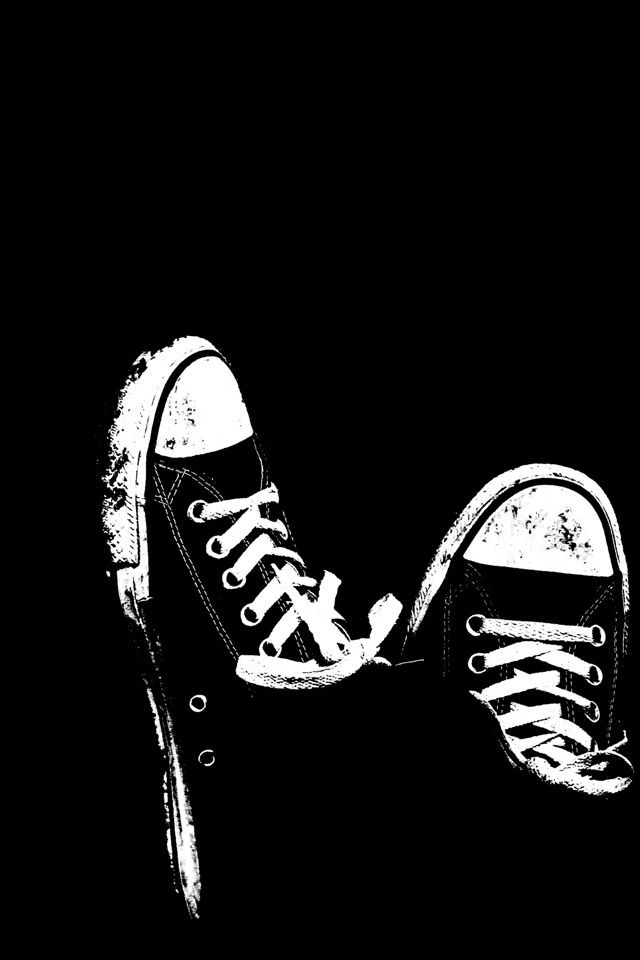 Converse Shoes Wallpaper Papel de parede preto, Papel de