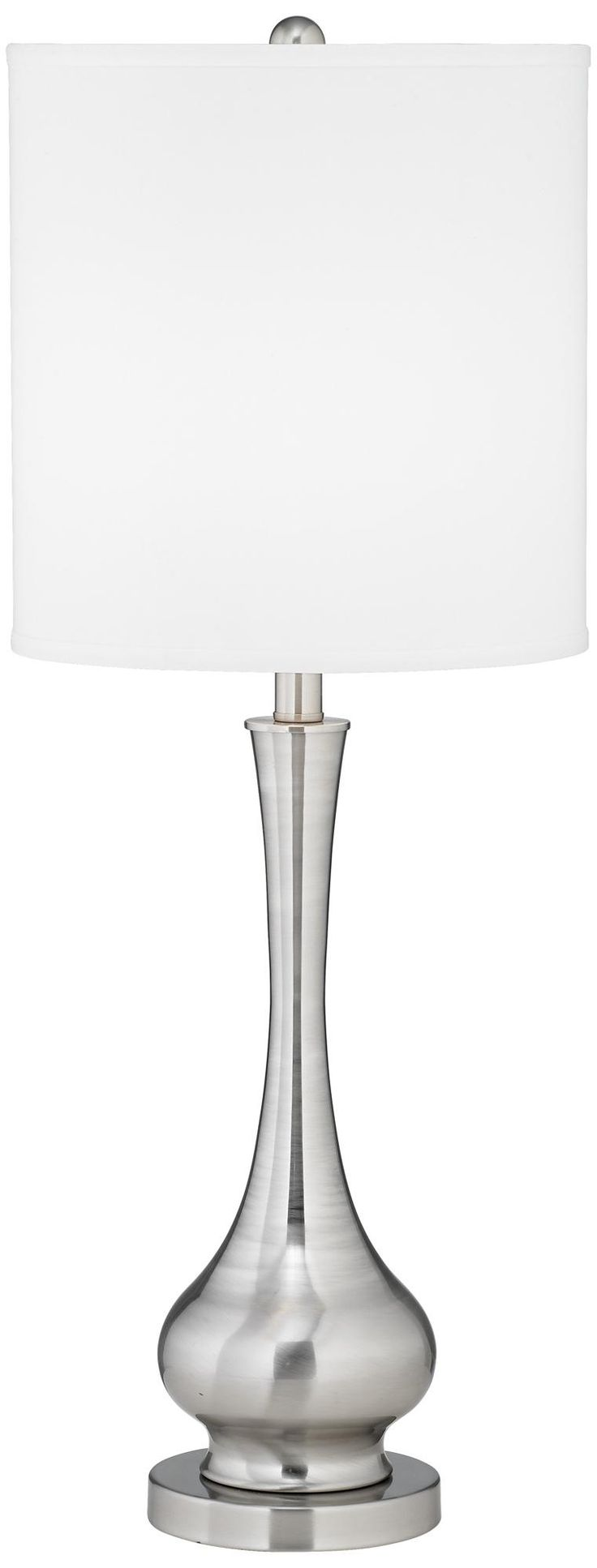 Possini Euro Design Satin Steel Slim Gourd Table Lamp