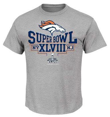 Denver Broncos Super Bowl XLVIII Bound Step Aside VI T-Shirt - Steel 826b6fc9e6a