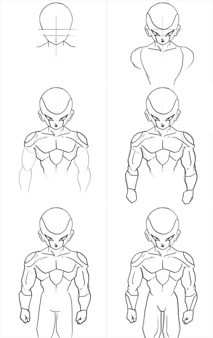 How to draw Frieza form 3