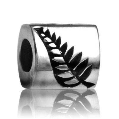 Evolve NZ fern silver charm at Charlton Jewellers, Auckland, New Zealand
