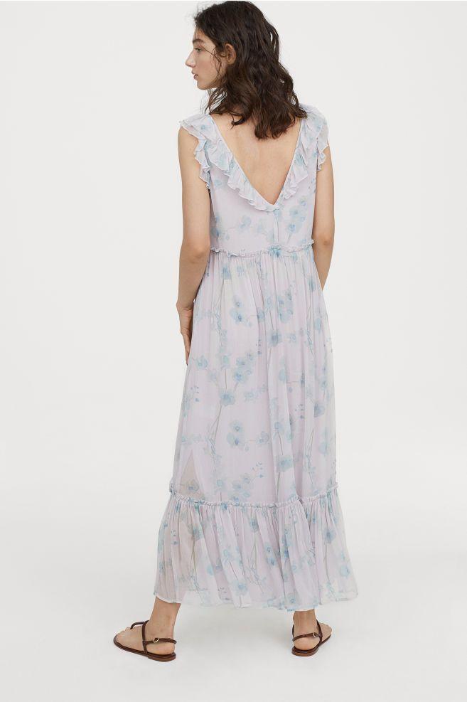 ca105354e2e Long Flounced Dress - Light pink floral - Ladies