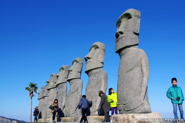 Sunmesse Nichinan in Miyazaki (Kyushu) features Moai stone statues. Read more about it here: http://zoomingjapan.com/travel/miyazaki-sunmesse-nichinan/
