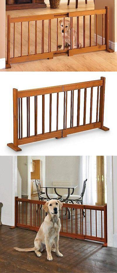 Fences And Exercise Pens 20748: 58u201d Expandable Pet Gate U2013 Adjustable Wood  Dog Gates
