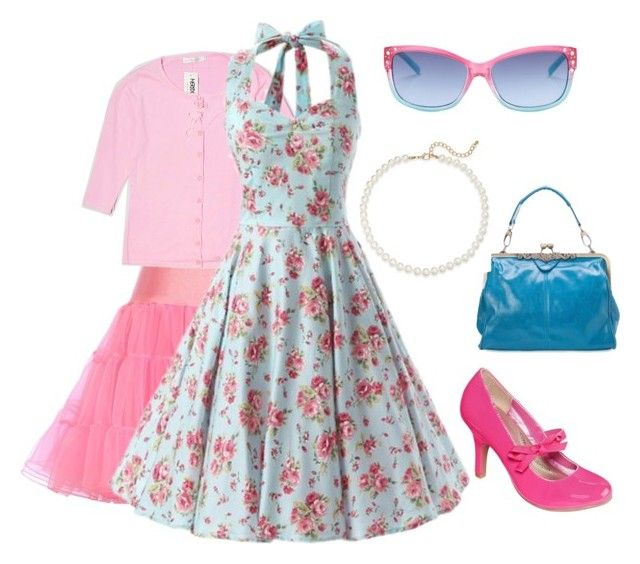 """""""Pink Retro"""" by rockfusion on Polyvore featuring POP, Saks Fifth Avenue and Steve Madden"""