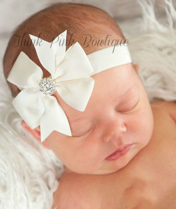 CHOOSE your COLOR Baby Headband Baby headbands by ThinkPinkBows, $3.95