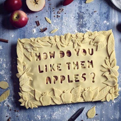 In a pie, obviously! #regram @jojoromancer #appleseason #applepicking