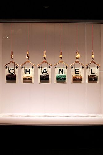 62/365: CHANEL , originally uploaded by style.ish . Sometimes it's the simple images that make the biggest impact.  This Chanel bag display ...