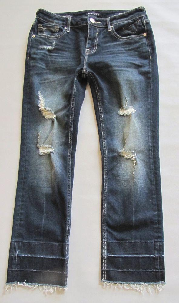 ab2c4eef4b1 Vigoss Chelsea Crop Slim Straight Jeans 28 x 26 Destroyed Skinny Cropped  Denim  VIGOSS  CapriCroppedStraightLegSkinny