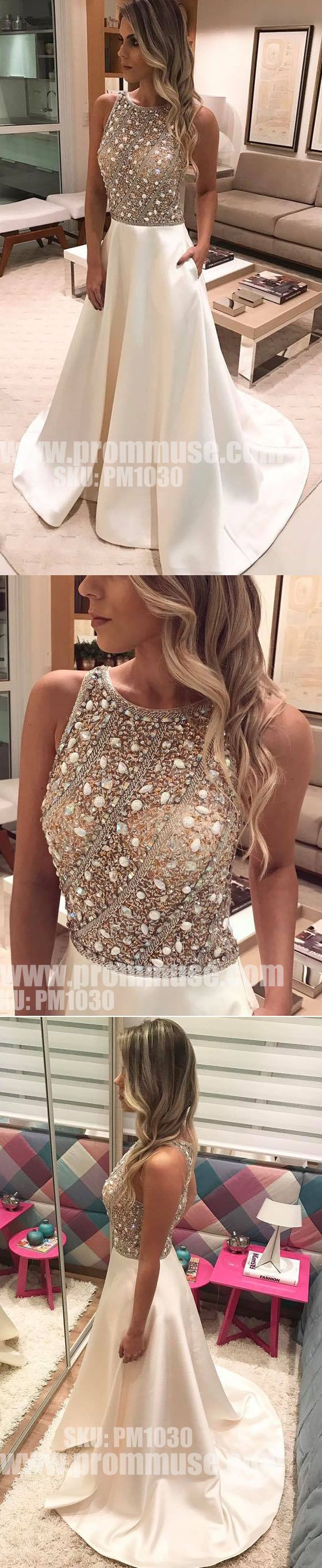 Charming Beaded Top Formal Inexpensive Evening Lon… -  Prom shopping is alive and well on Pinterest. Compare prices for this @ Wrhel.com before you commit to buy. #Prom