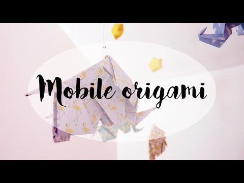 Mobile origami cadeau de naissance DIY - Shop It Yourself