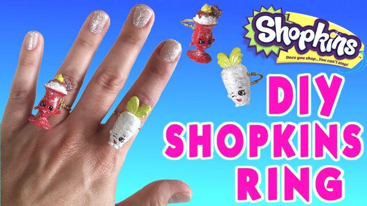DIY Shopkins Ring Custom Shopkins Jewelry videos for chidren ToyBoxMagic