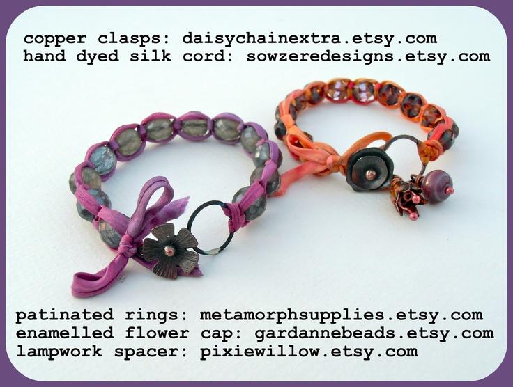 Art Bead Scene Blog: Square Knot Bracelet Tutorial