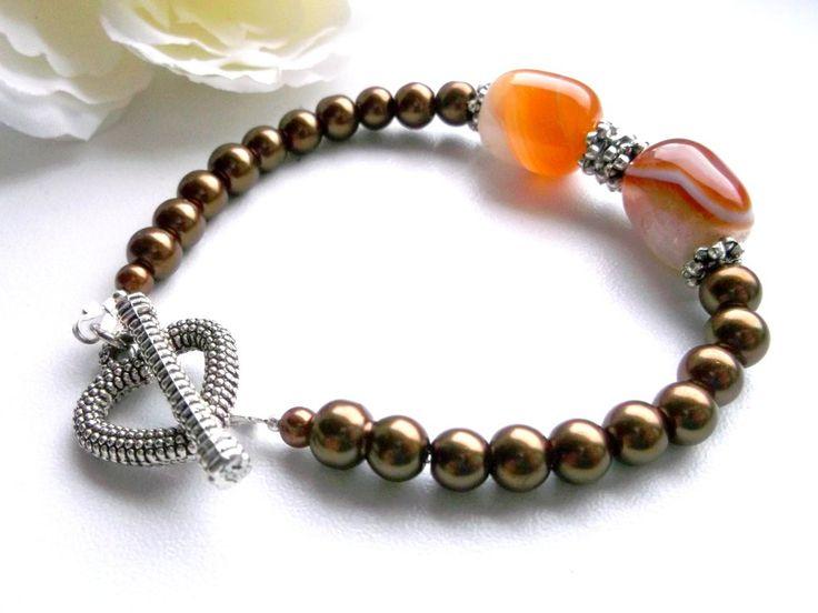 Brown glass bracelet