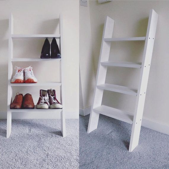 Hey, I found this really awesome Etsy listing at https://www.etsy.com/uk/listing/470788184/solid-wood-white-ladder-style-shoe-rack