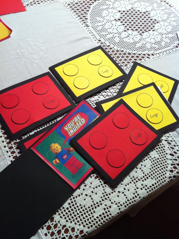 Diy Lego Birthday Invitations