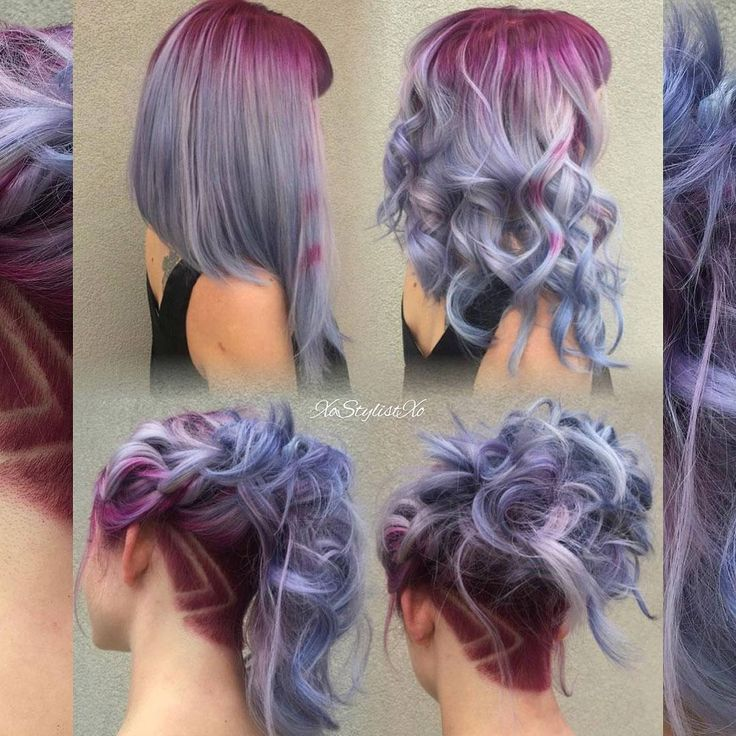 """@xostylistxo creates hair magic with this perfect balance of cool & warm tones ❤ Shop bright hair dyes here> Beserk.com.au ❤"""