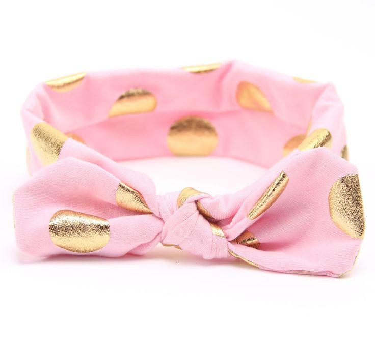 Goud Katoen Hoofdband Meisjes Geknoopt Hoofd Wraps Jersey Gebreide Headwraps Gold Hoofdband voor Gift Meisjes Haaraccessoires