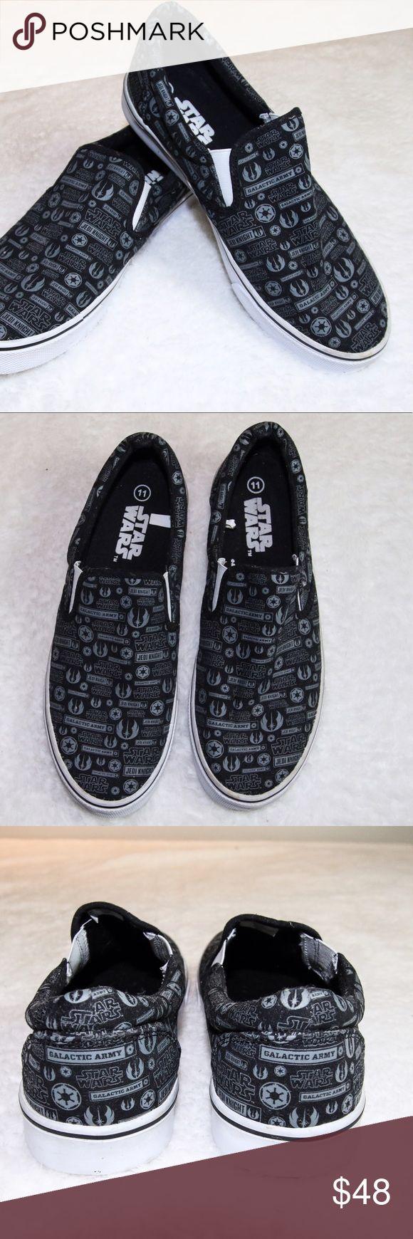 STAR WARS Lucas films Mens sneakers sz 11 Star Wars by Lucas films Men's slip on sneaker  sz 11  Great Condition Star Wars Shoes Sneakers