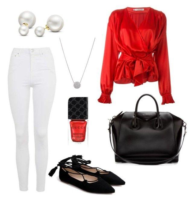 Senza titolo #552 by sara-scagnoli on Polyvore featuring moda, Christian Dior, Topshop, Givenchy, Allurez and Gucci