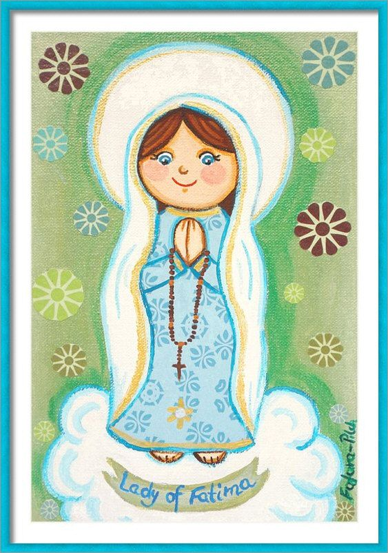 Our Lady of Fatima print Girl First communion gift for girl