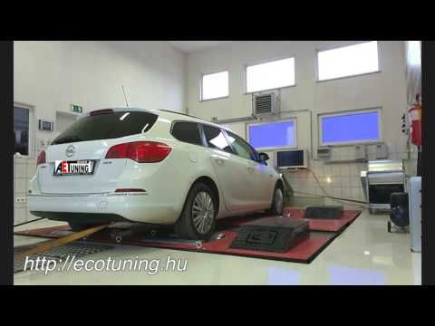 Opel Astra J 1.7CDTI 125LE AET CHIPtuning Referencia Videó Dynoproject t...