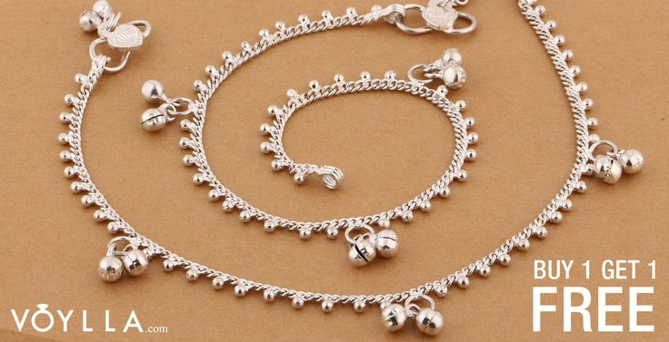 Pair Of Silver Plated Stunning Ghungroo Anklets PRODUCT CODE:237723 #jewellery #fashion #style #USA #jewelry #silver