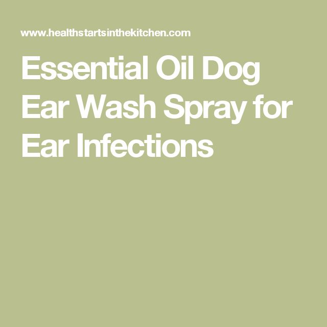 Essential Oil Dog Ear Wash Spray for Ear Infections